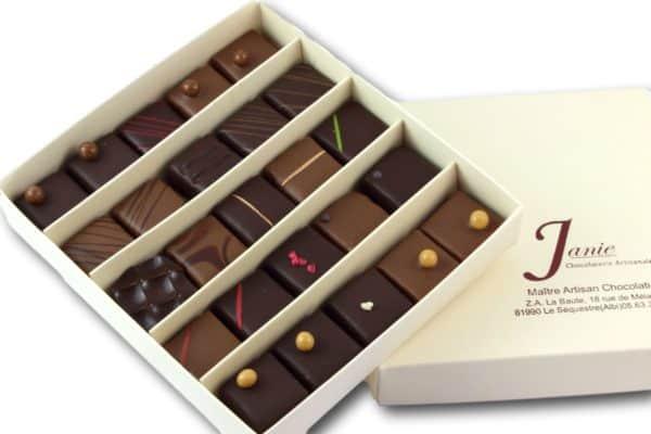 Janie Chocolaterie Artisanale Coffret 25 Bonbons De Chocolat