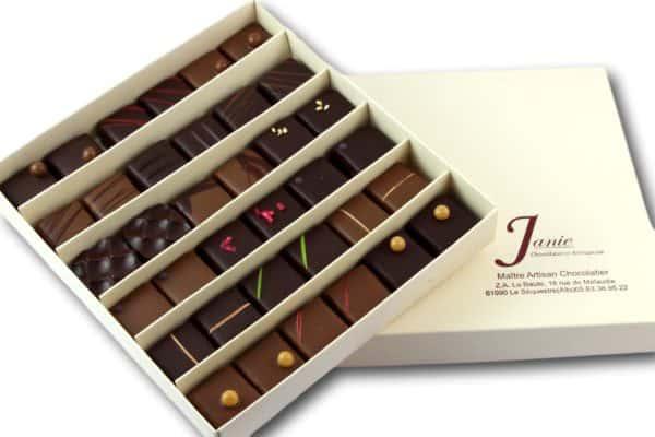Janie Chocolaterie Atisanale Coffret 36 Bonbons De Chocolat
