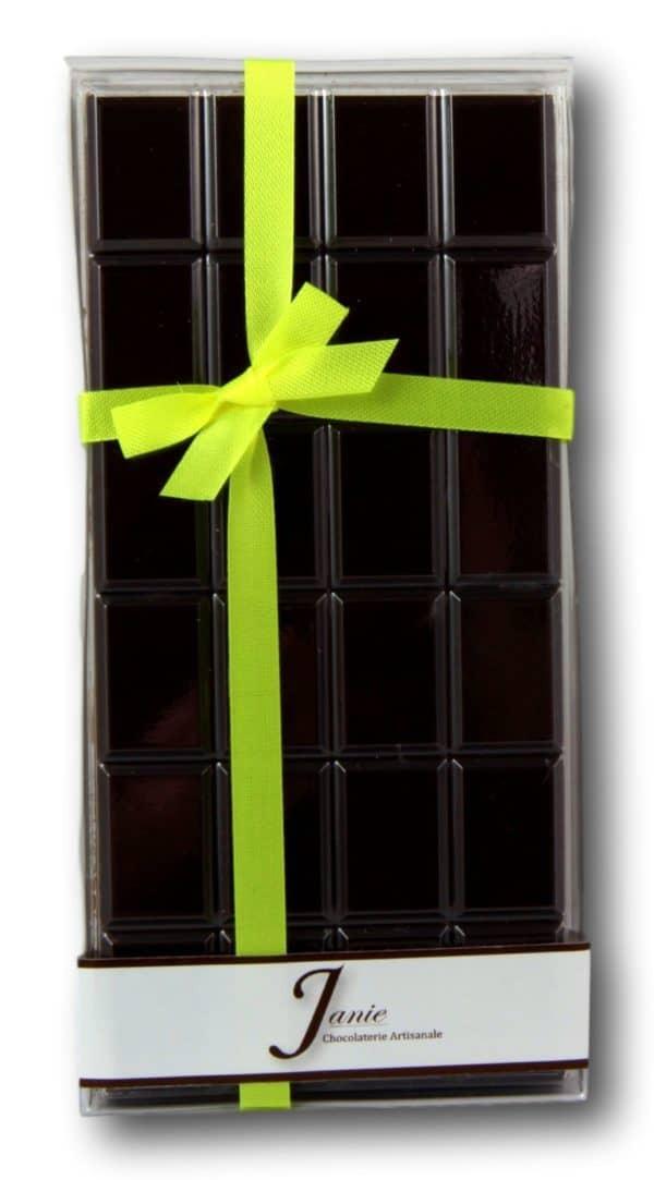 Tablette Pur Pérou Noir 70% Janie Chocolaterie Artisanale