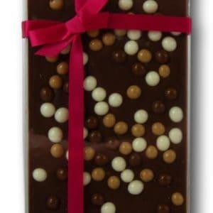 Tablette Mariage Grand Cru Lait 40% Céréales Croustillantes Janie Chocolaterie Artisanale