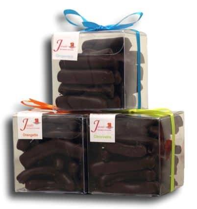 Trio Cube Orangette Citronnette Gingembre Janie Chocolaterie Artisanale